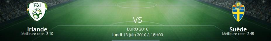 Pronostics Irlande/Suède - Euro 2016