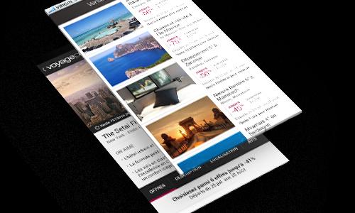 Découvrez les nouveautés de l'application Android de Voyage Privé
