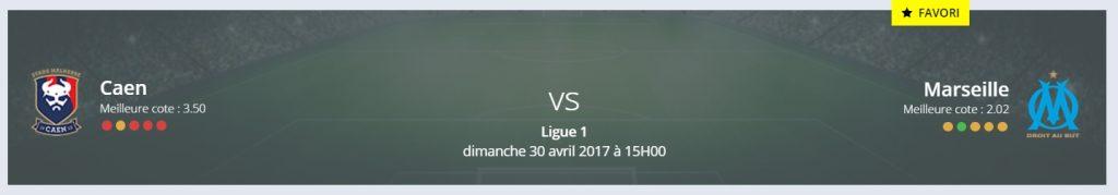 Voici les pronos Caen/Marseille Ligue 1 de Rue des Joueurs !