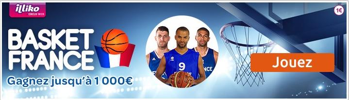 Vous aimez le basket? Jouez à Basket France avec Illiko!