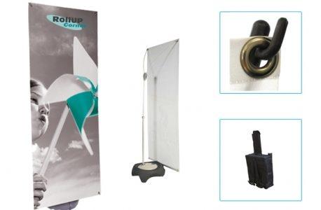 Rollup Corner : visuels (structures et impressions) d'un bon rapport qualité-prix !